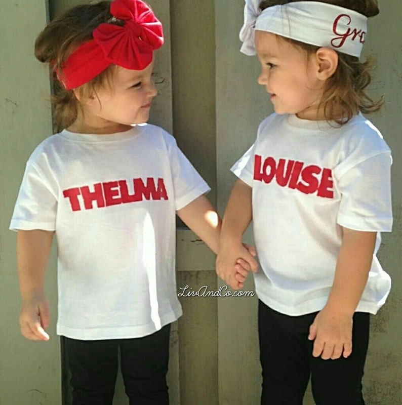 Thelma  Louise Twin Girl Outfits Twin Girl Baby Gifts Twin image 0