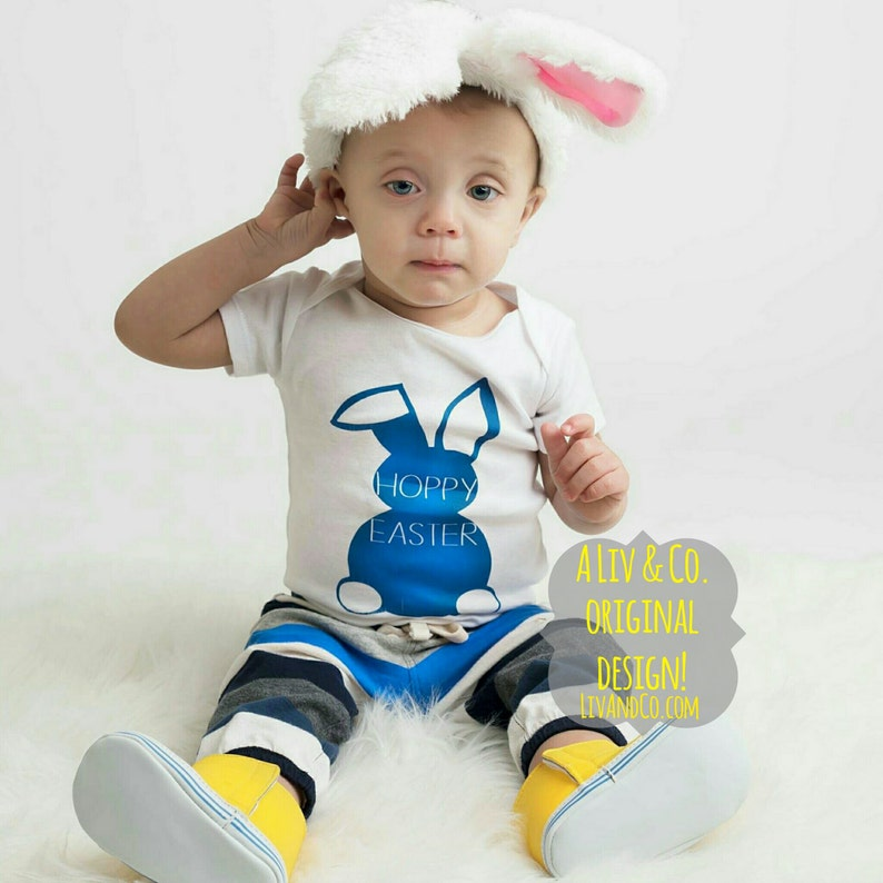 2b53e7aee Easter Baby Boy Outfit Newborn Boy Easter Bunny Baby Boy | Etsy