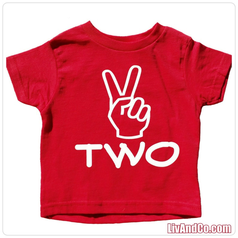 Two Shirt 2 Year Old Birthday 2nd Second
