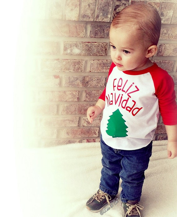 8327558d6a Feliz Navidad Shirt Baby Boy Clothes Baby Girl Clothes | Etsy