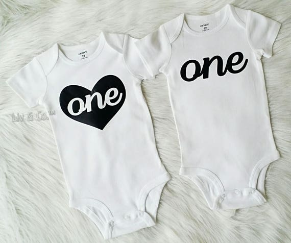 Twin Baby Clothes Birthday Shirts Boy Girl First