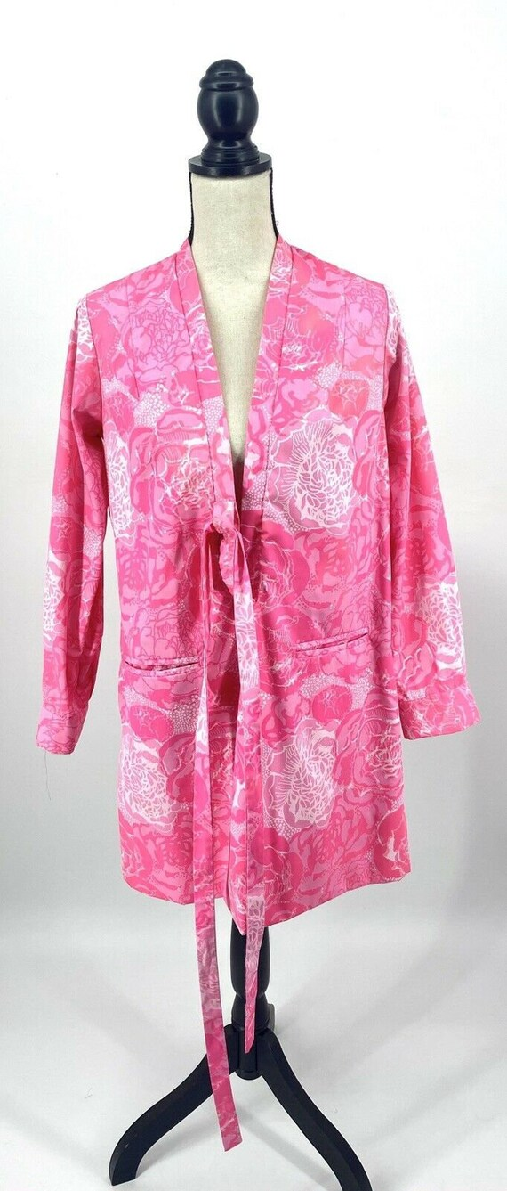 Vintage 1960's Lilly Pulitzer Pink Floral Kimono S