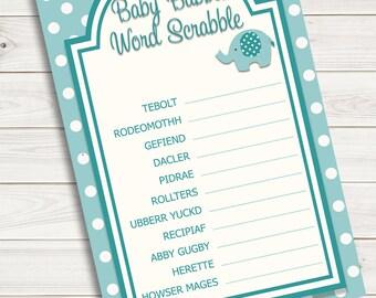 Baby Shower Games Word Scramble Scrabble Etsy
