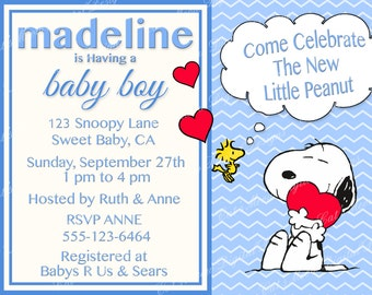 Snoopy Peanuts Baby Shower ...