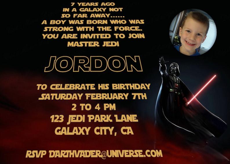 Star Wars Birthday Invitation Personalized Star Wars Invite Etsy