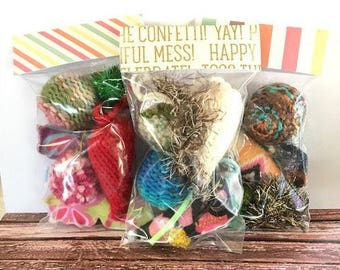 Cat Birthday, New Cat Gift, Kitten Adoption, Cat Toys, Cat Toy Starter Package, Catnip Toys, Silvervine Toys, Valerian Toys, Kitten Shower