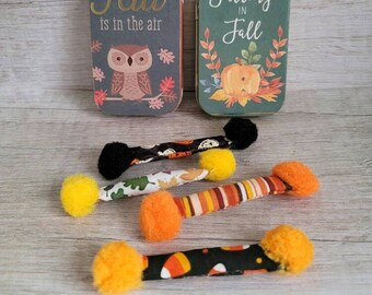 Halloween Cat Toys in a Tin, Kitty Swabs Set of 4, Fall Cat Toys, New Kitten Gift, Catnip Toys, No Catnip Toy, Popular Cat Toys