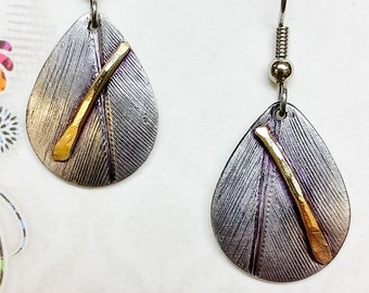 Feathered Earrings & Brass