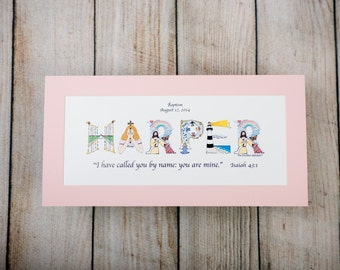 Baptism Gifts for Girls Personalized Christian Gifts   Etsy
