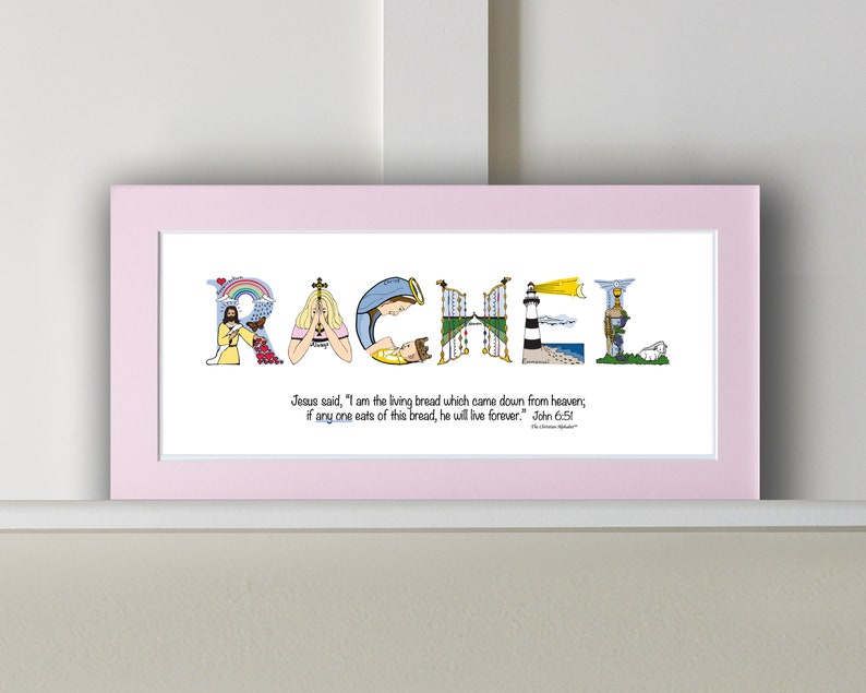 First Communion Gift for Girls Personalized with bible verse image 0