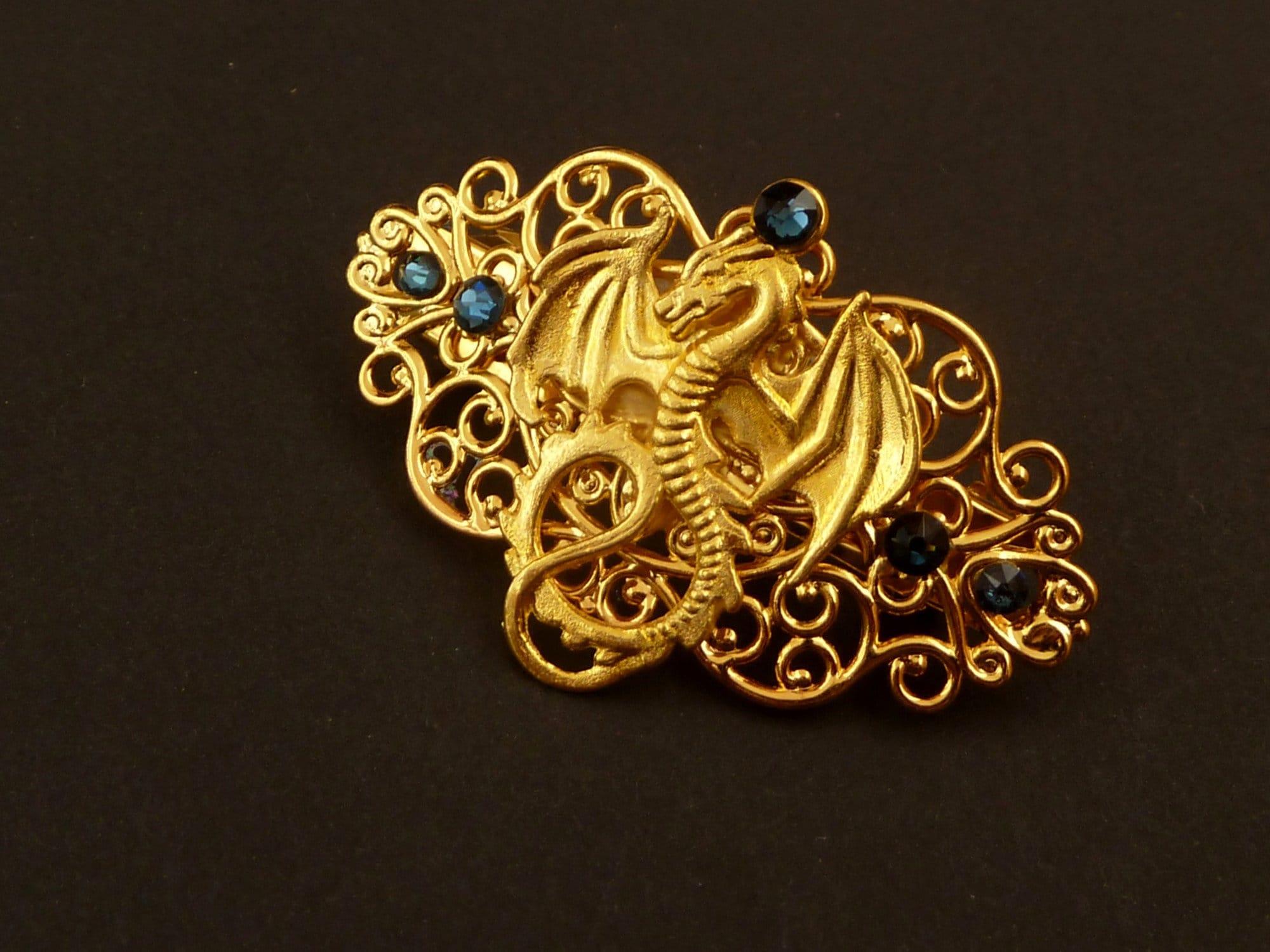 blue dragon person gold hair