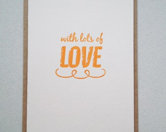 Anniversary card. thank you card. Gift card. Letterpress hand printed card.