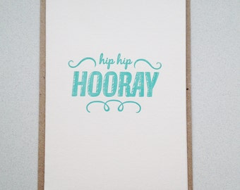 Congratulations card. Baby card. birthday card, letterpress, hand printed
