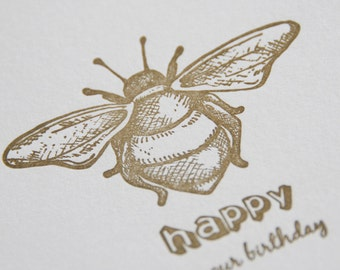 Birthday Card, Celebration, Invitation, Letterpress, hand printed, card, ireland,