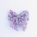 The Alice Bow - Handmade Schoolgirl Bow - Fabric Hair Bow Clip Headband - Flower Girl Hair Clip