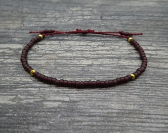 Choose Your House!! Handmade Maroon Red and Gold Friendship Bracelet
