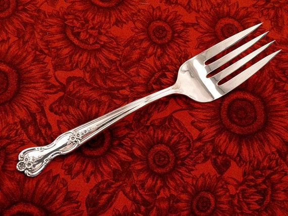 4 Vintage Wm Rogers Mfg Co Silverplated Salad Forks Magnolia//Inspiration 1951