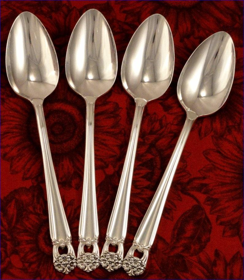4 Teaspoons  ETERNALLY YOURS 1847 Rogers Vintage 1941 SilverPlate Flatware Spoons