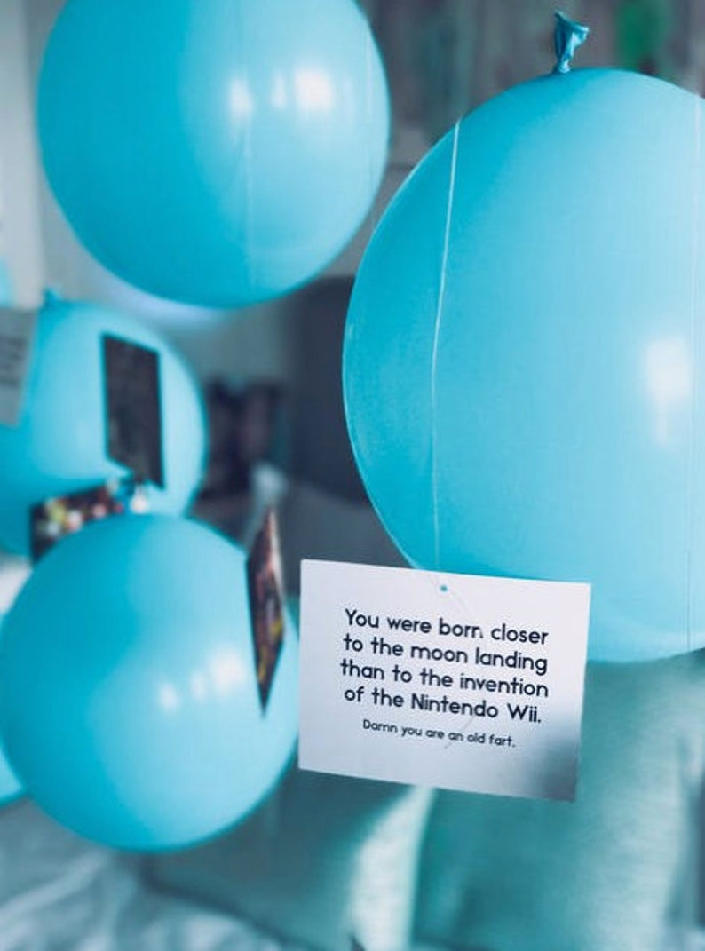 11 Light Blue Balloons Fathers Day Surprise Gifts For