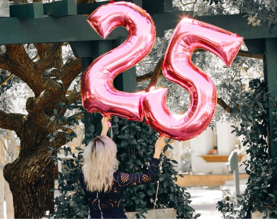 25th Birthday Balloon Photoshoot
