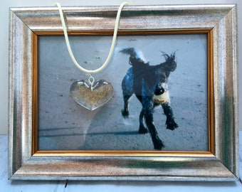 Funeral Jewelry with Animal Hair - Memorial Jewelry for Animal Friends made of Epoxy Resin - A Keepsake - Personalized Pet Loss Gift