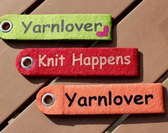 Felt keychain | Personalized gifts | Mom | Grandma | Gift idea | Birthday | knitting | Bestseller | Christmas present