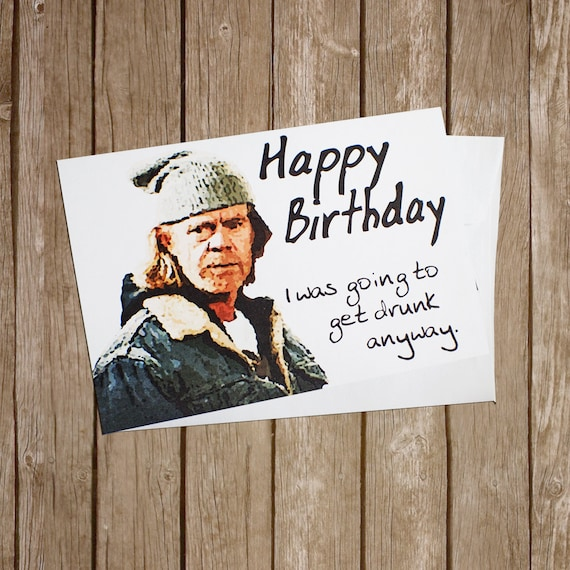 A5 tv british comedy gallagher frank SHAMELESS Personalised Birthday Card