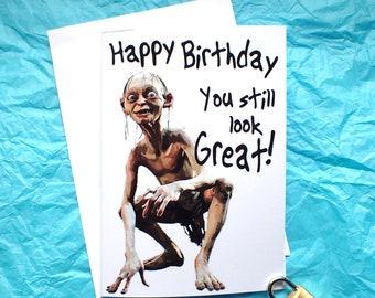 Gollum Birthday Card