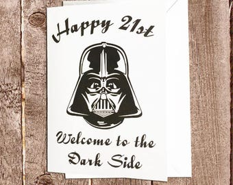Choose your age Star Wars Birthday Card