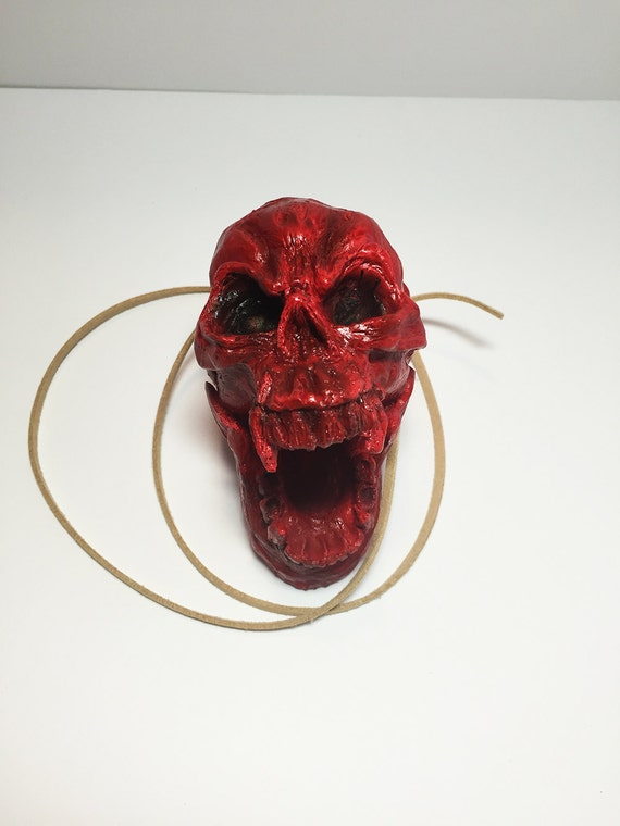Aztec Death Whistle - The Skull - Blood red -  Aztec Death Whistle, Mayan Death Whistle, Aztec Culture