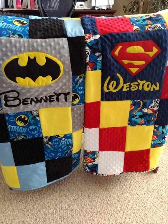 Colchas de superhéroes   Etsy