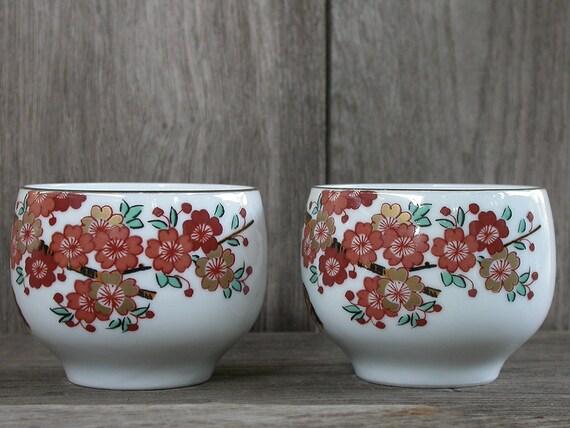 Japanische Teeschale  Schale Tee Flower Blumen Porzellan Japan rosa