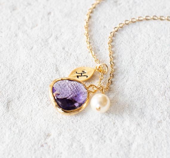 Sun Jewel Gold Amethyst Necklace Amethyst Sun Necklace Gold and Purple Necklace Amethyst Necklace Purple Necklace February Birthstone