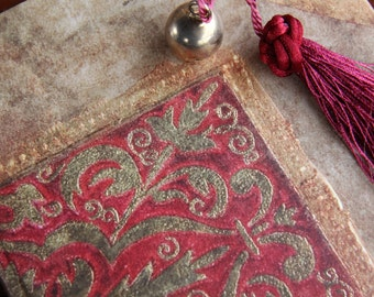 """Handbound notebook, journal, diary, antique journal diary  in a Renaissance style: """"Remembrance"""""""