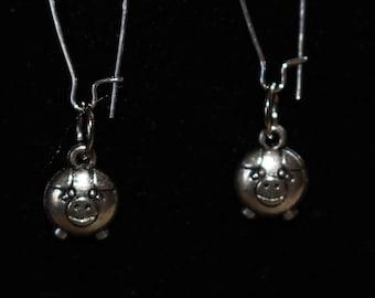 Little Piggy!  Silver Earrings