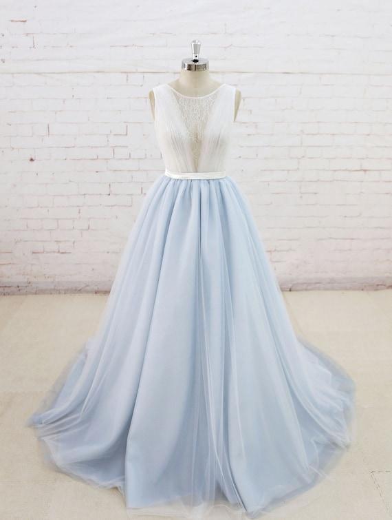 Fee Brautkleid mit lauter Sommer Hochzeit Kleid leicht blau