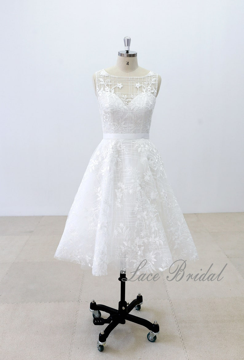 59bae8c485 Custom Short Wedding Dress Knee Length Wedding Dresses Short