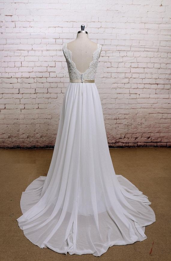 Robe de mariee dos en v