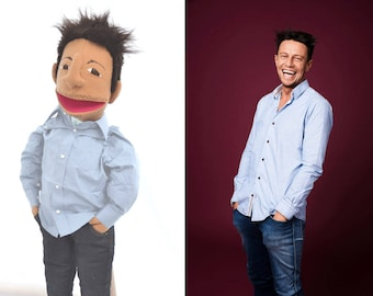 Custom puppet | Look alike Puppet | Likeness Puppet | Portrait Puppet | Caricature Puppet | Hand Puppet based on anyone you like!