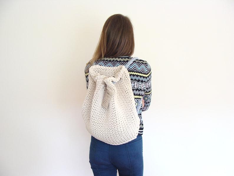 e1bca715b6dd9 Plecak worek na drutach damski boho plecak bawełniany