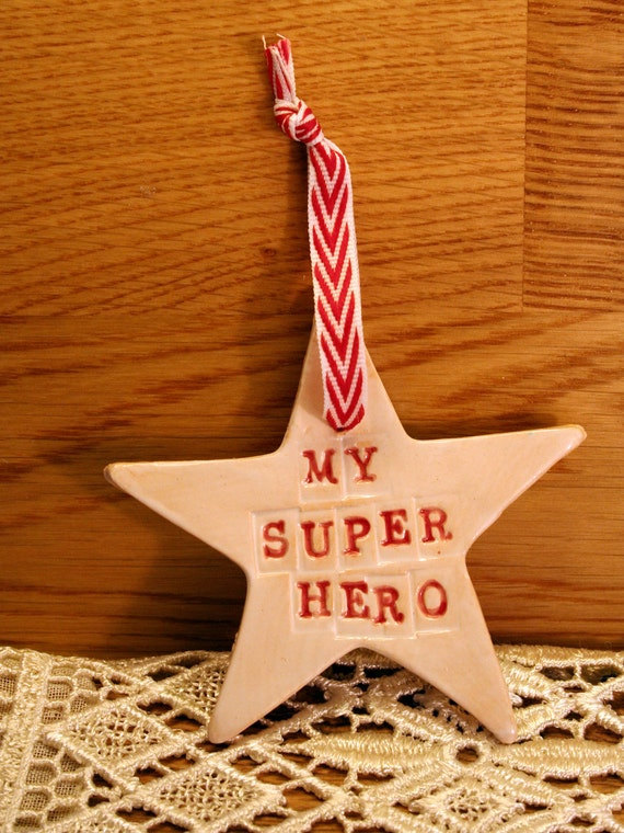 My Super Hero, Pottery Star, a Special Star to help someone feel special, loved & thanked for their efforts. For a wedding, event, help etc.