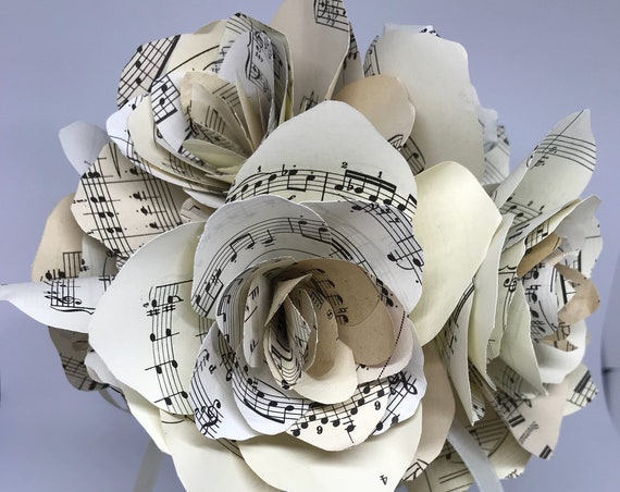 Wedding Vintage Music Score Bouquet, Bridesmaids, Bride, First Dance Song, Valentines, Love , Marriage, Groom, Commission song, music script
