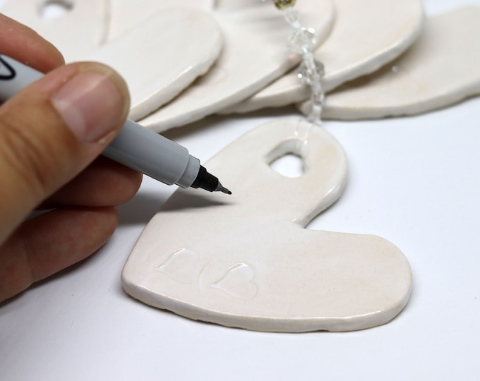 Wedding Day Heart, Write a Messages to the Bride and Groom on this handmade Wedding Favour, Champagne Breakfast, Wedding Meal, Table Decor.