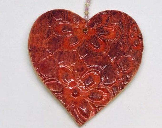 Love Heart Decoration. I Love You, Xmas Ornaments, Christmas Bauble, Pottery Ornament, Secret Santa present, Stocking Filler, Valentines day