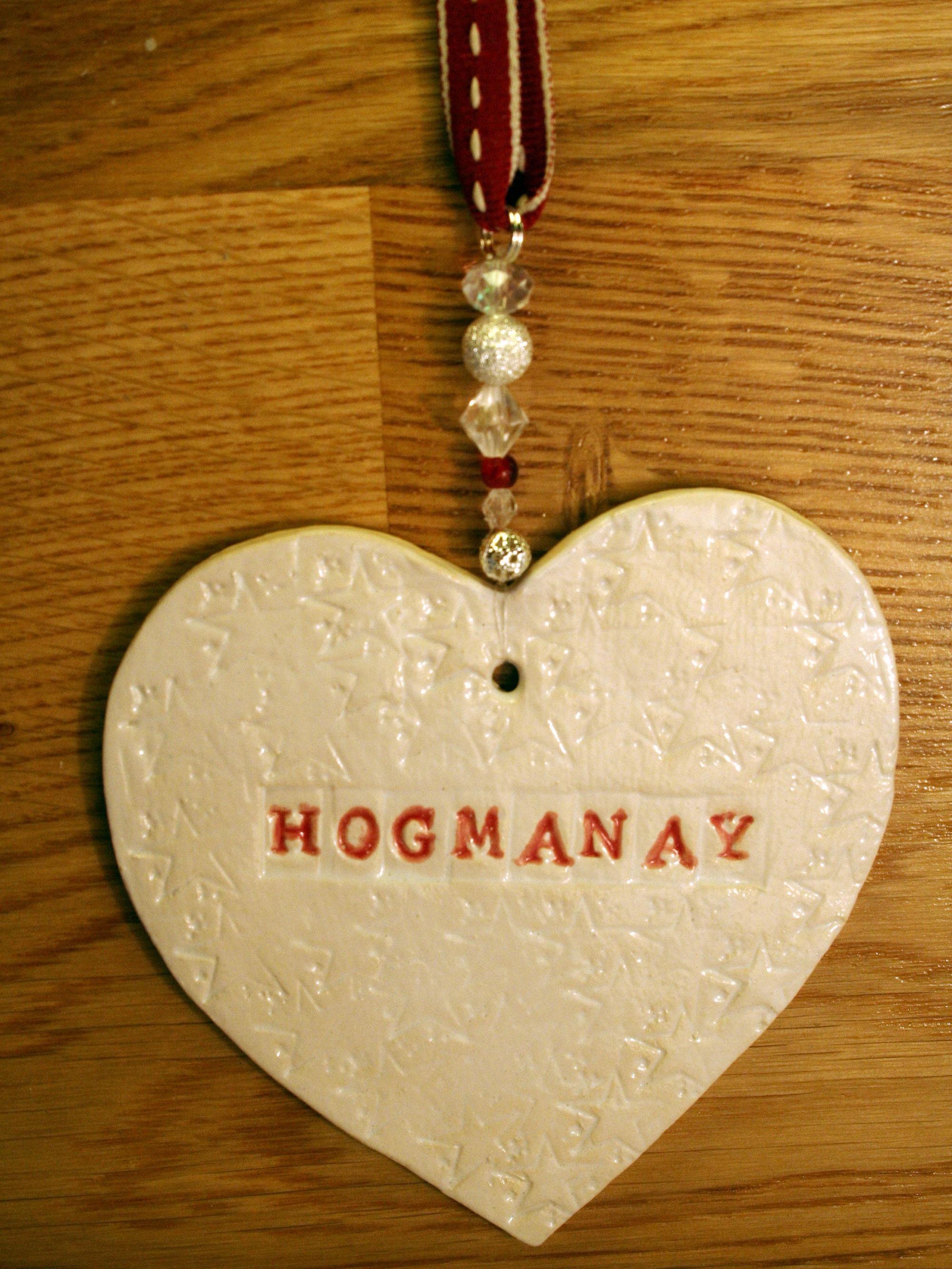 Hogmanay Pottery Hearts, Scottish New Year Hearts handmade in my ...