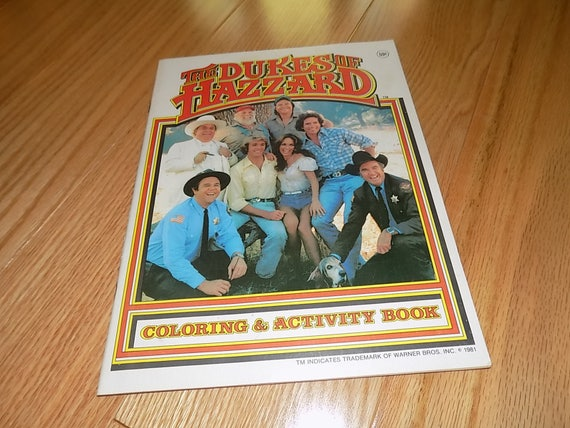 The Dukes of Hazzard Coloring & Activity Book 1981 County