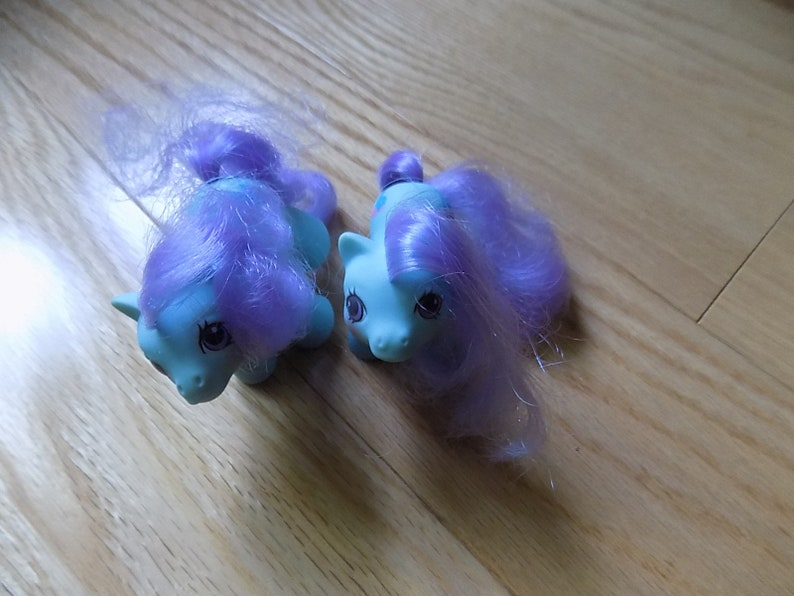 My Little Pony G1 Baby Puddles & Peeks Ponies Pony Vintage Hasbro 1980's  MLP Horses Action Figure Doll Toys2