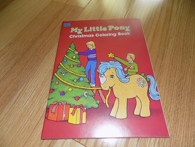 My Little Pony Christmas Coloring Book 1984 Mlp Color G1 Rare Uncolored