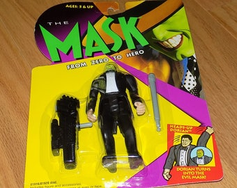 The Mask Action Figure 1995 Zero to Hero Accessories Kenner 81912/81920 Heads-Up Dorian Toy Toys SEALED