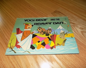 Yogi Bear and the Beaver Dam Pop-up book Vintage Cartoon Character